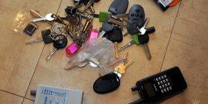 Rozbicie grupy mokotowskiej - zabezpieczone kluczyki samochodowe
