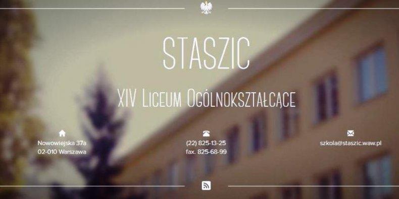 Staszic - XIV Liceum Ogólnokształcące im. Stanisława Staszica w Warszawie