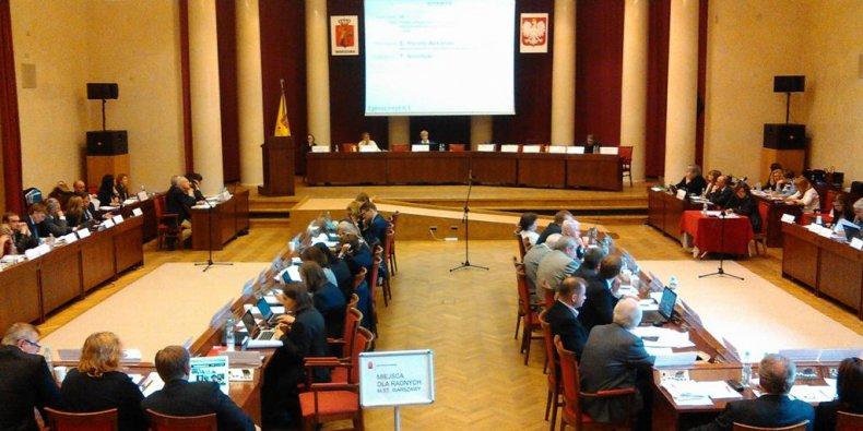 Sala Warszawska - posiedzenie Rady Warszawy
