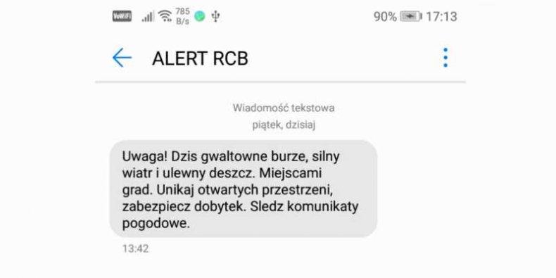 Alert RCB na Twoim telefonie