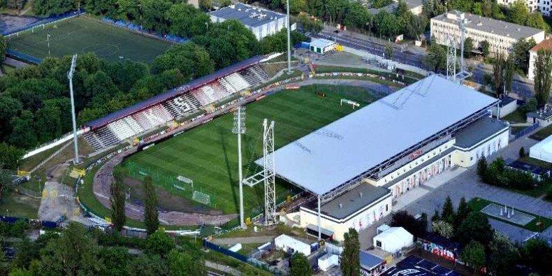 Stadion Polonii w roku 2012(z lotu ptaka)