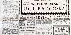 Kurjer Warszawski str. 3, na okoliczność Grubego Joska wydany
