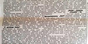 Nocne spelunki Warszawy przed wojną w Kurjerze Warszawskim wydanym na okoliczność Grubego Joska