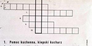 Warszawska krzyżówka gwarowa w Kurjerze Warszawskim wydanym na okoliczność Grubego Joska