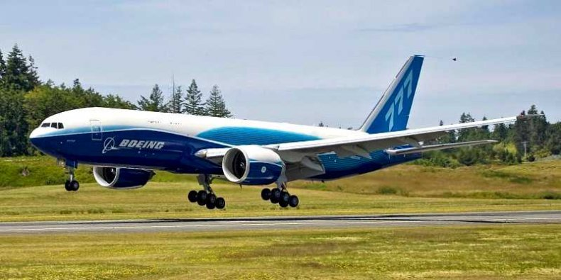 Pierwszy Boeing 777 Freighter podczas lotu testowego