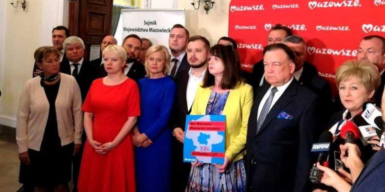 Konferencja prasowa Sejmiku Województwa Mazowieckiego
