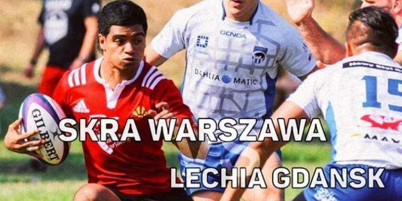 Rugby - plakat meczu Skra vs Lechia Gdańsk