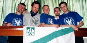 Prezes AZS UW, Robert Gawkowski,.drugi z lewej. Mistrzostwa Akademickie w Amsterdamie, rok 2000, z sekcją badmintona. Pierwszy z lewej trener dr Janusz Rudziński