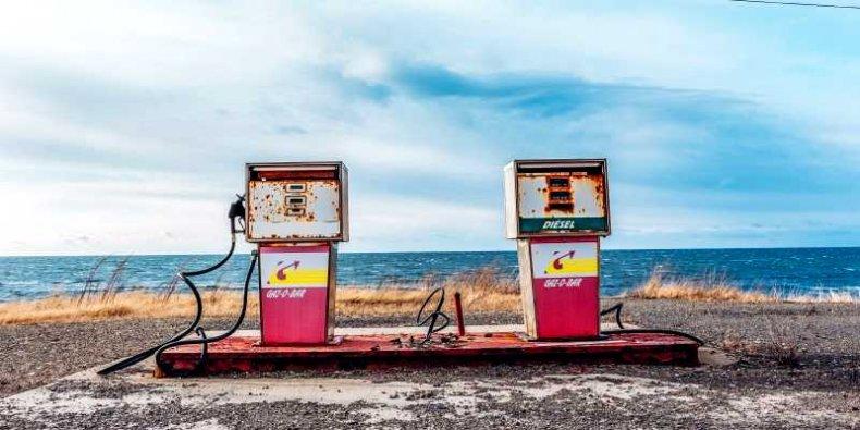 Stacja paliwowa przy amerykańskiej plaży