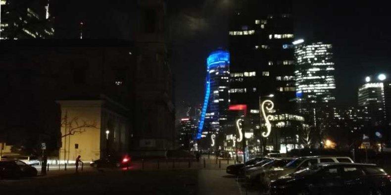 Plac Grzybowski nocą