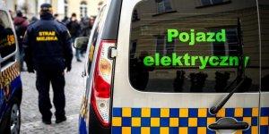 Przekazanie samochodó welektrycznych dla Straży Miejskiej w Warszawie