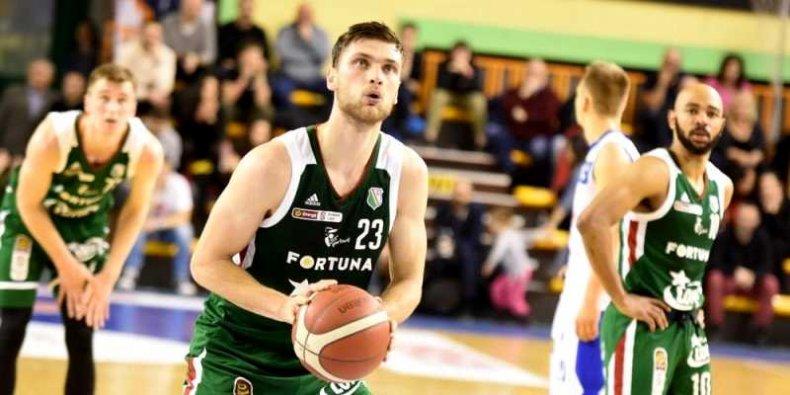 Koszykarze Legii - na pierwszym planie Michał Michalak