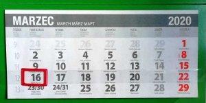 Kalendarz - marzec