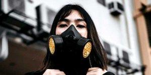 Maska oddechowa z filtrami