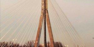Oświecony Most Świętokrzyski. Autor: Jolanta Baranowska - wyróżnienie w etapie lutowym Warszawskiego Konkursu Fotograficznego 2020 r.