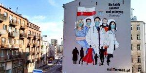 Mural Wdzięczności dla Służby Zdrowia. Projekt Grupy naTemat
