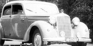 Mercedes Benz z warszawską rejestracją z około 1970 WW-9598 foto archiwum Kwz z Wikimedia