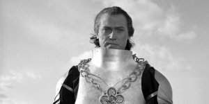 Emil Karewicz jako Król Jagiełło w filmie Krzyżacy - zdjęcie ze zbiorów Filmoteki Narodowej