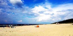 Plaża w Jantarze nad Zatoką Gdańską