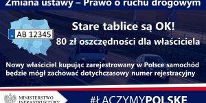 Zmiany ustawy PRD - tablice rejestracyjne