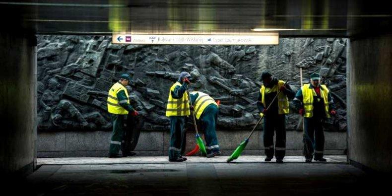 Sprzątanie miasta foto ZOM