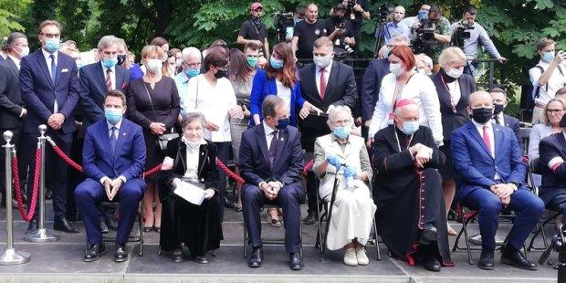 Uroczystość zasadzenia Drzewa Pamięci w Parku Powstańców Warszawy