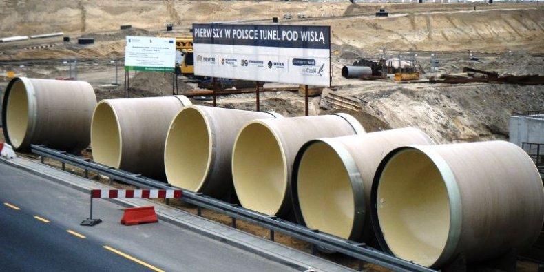 Budowa tunelu do Oczyszczalni Ścieków Czajka w Warszawie foto Tadeusz Rudzki