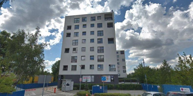 Górczewska 181 - budynki, w których miał miejsce pożar.