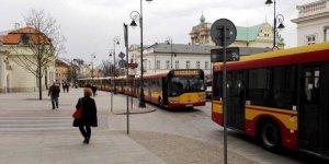 Korek z autobusów - Krakowskie Przemieście