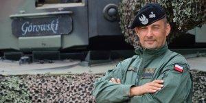 Generał brygady Jarosław Górowski - dowódca 1 Warszawskiej Brygady Pancernej im. Tadeusza Kościuszki