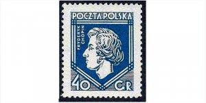 Znaczek upamiętniający budowę pomnika Fryderyka Chopina w WarszawieZnaczek upamiętniający budowę pomnika Fryderyka Chopina w Warszawie