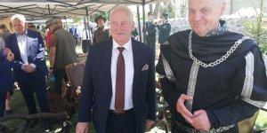 Burmistrz Szczytna z Marszałkiem Warmii i Mazur