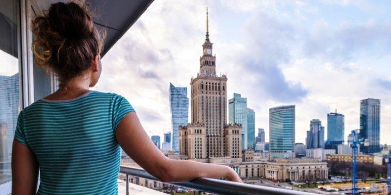 Mieszkanie w Warszawie. Widok a PKiN
