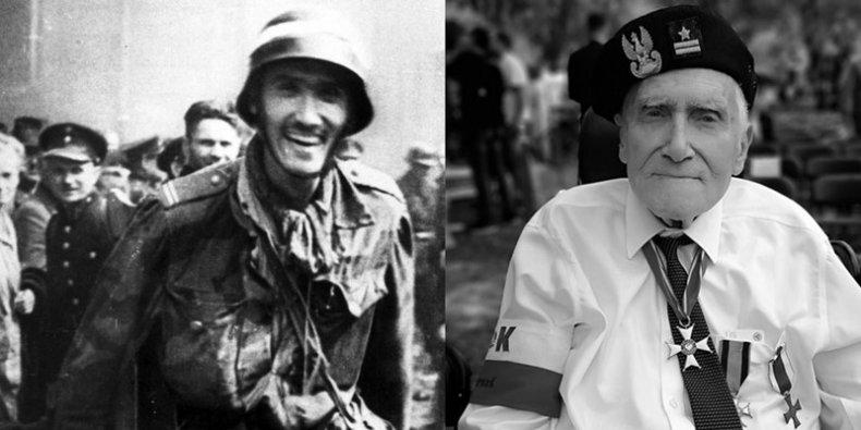 Witold Kieżun w 1944 i w 2020 foto Wikipedia i MPW