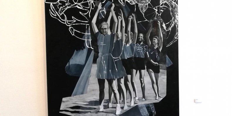 Z wystawy w Muzeum im. Bolesława Biegasa - Agata Kus / THE LOVE GAME / 160x130cm / olej/płótno / 2014 r.
