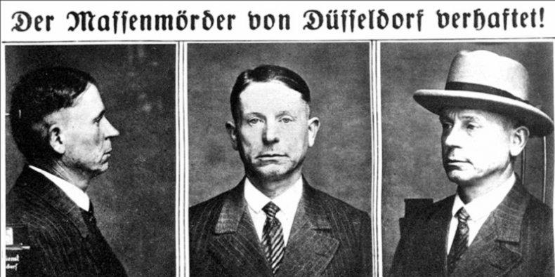 Peter Kürten policyjne zdjęcia