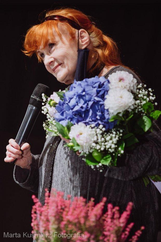 Barbara Krafftówna po spotkaniu