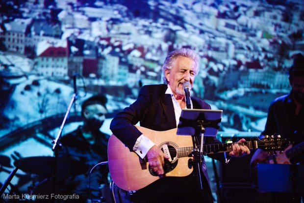 Michał Hochman podczas występu