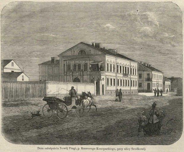 Dom założyciela Nowej Pragi,p. Ksawerego Konopackiego, rzy ulicy Środkowej