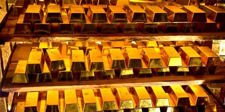 Złoto w sztabach